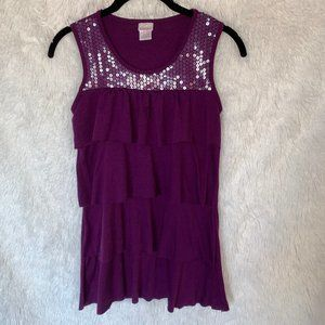 Girls Tank with Sequins